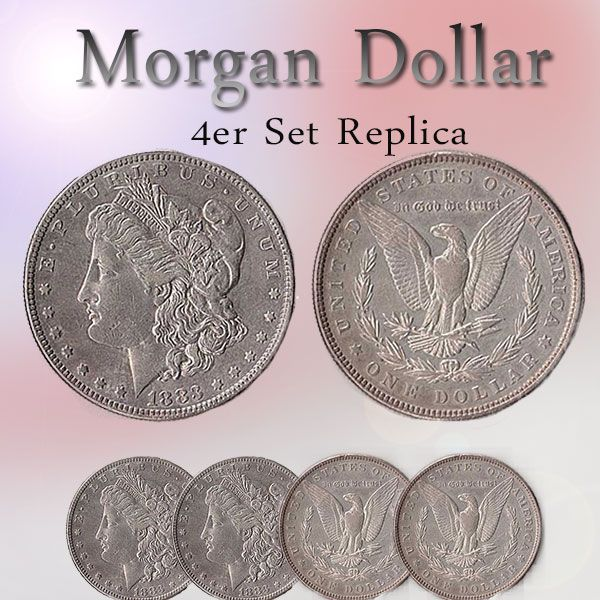 Morgan Dollar - 4er Set Replica