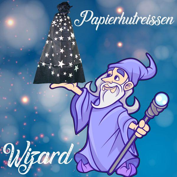 Papierhutreißen Wizard