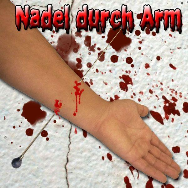 Nadel durch Arm