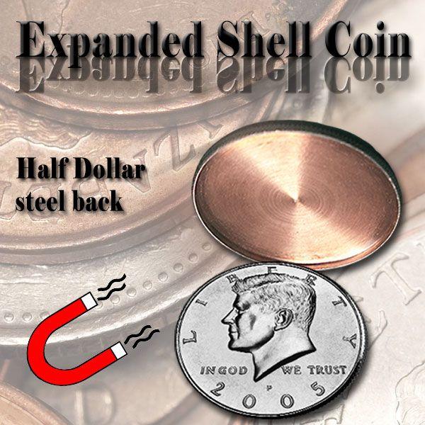 Expanded Shell Half Dollar steel back