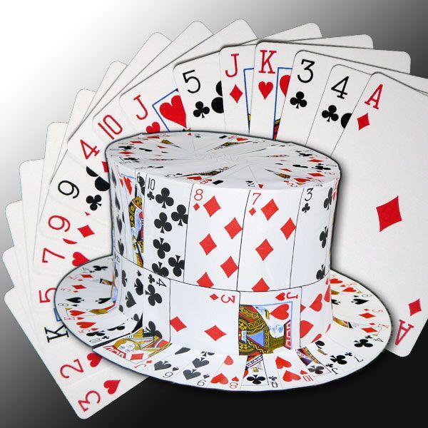 Kartenfächer zu Zylinderhut