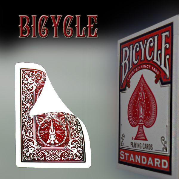 Bicycle Vorderseite blanko, Rückseite rot