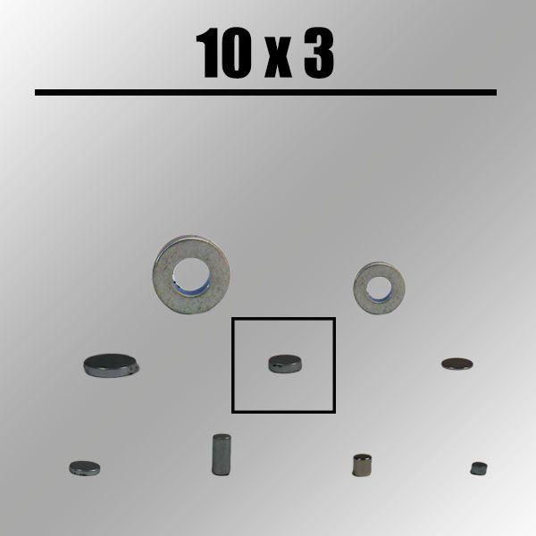 Magnet, rund, 10mm x 3 mm