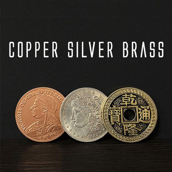 Copper Silver Brass Morgan Dollar